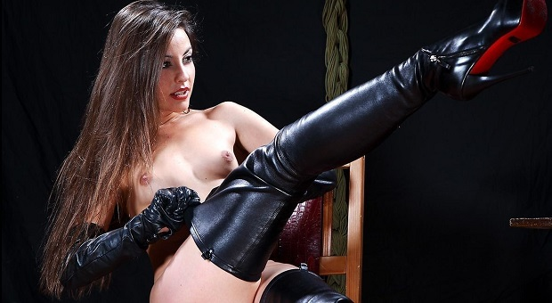 leather fetish boots