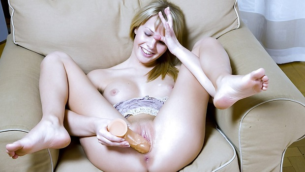 masturbating with dildo