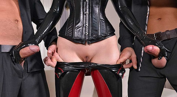 leather and latex fetish as a leading trend in porn